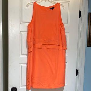 Banana republic orange pencil dress size 14